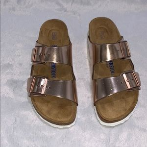 Birkenstock Arizona Rose Gold Sandals Sz 39